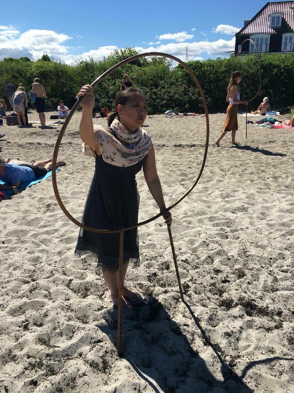 Performance on the beach