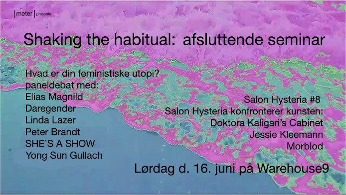 Shaking the habitual: afsluttende seminar